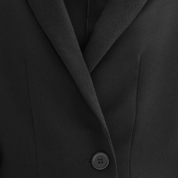 Chaqueta corta tipo Spencer : Chaquetas y Cazadoras color Negro