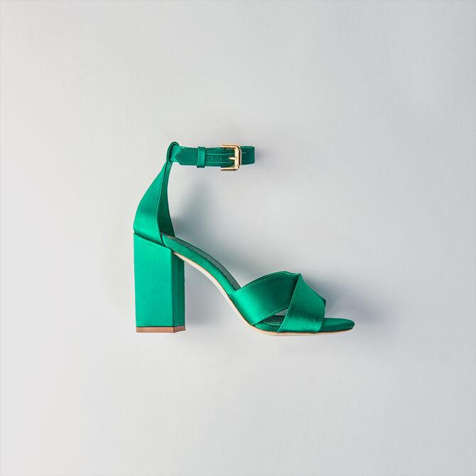 Sandalias de raso con tacón -  - MAJE