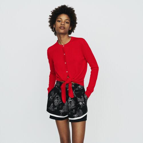 Cárdigan anudado : Jerseys y cárdigans color Rojo