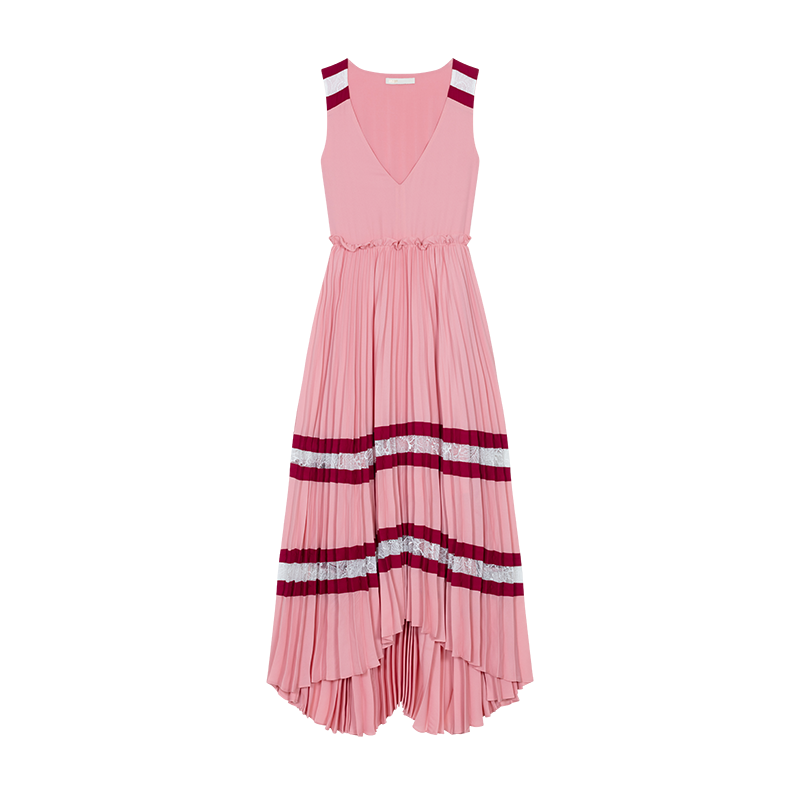 Long pleated dress - Vestidos - MAJE
