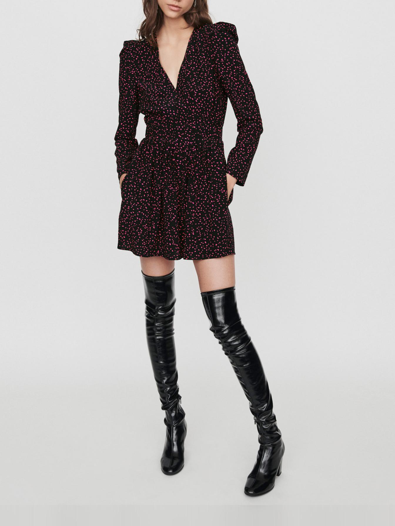 Mono short trompe l'œil estampado - Faldas y shorts - MAJE