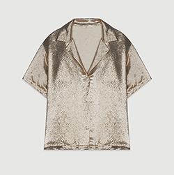 Blusa de seda mezclada tipo pijama
